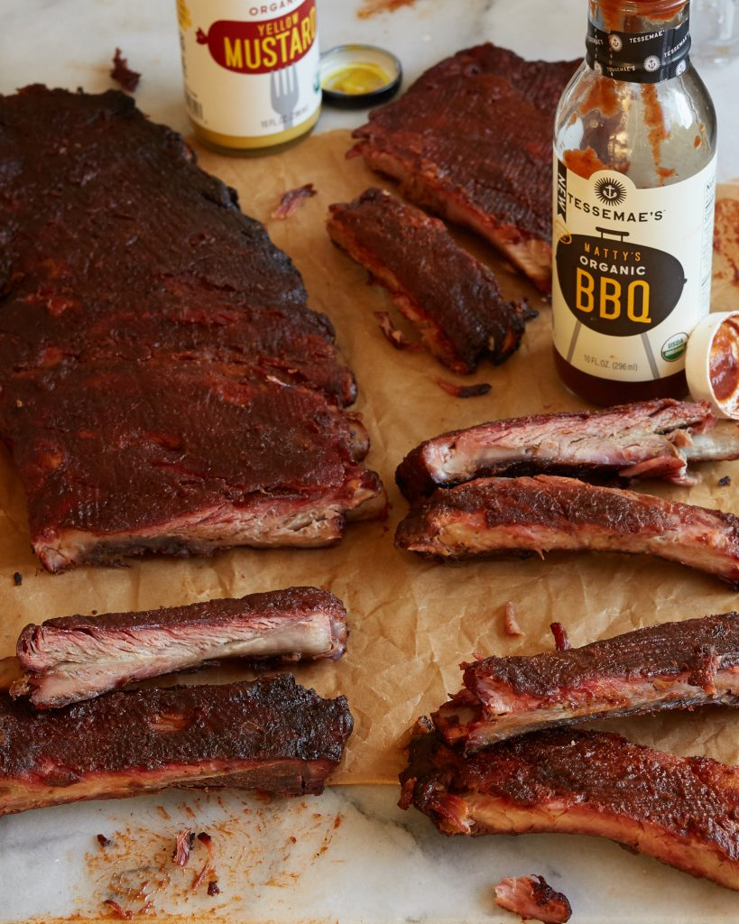 St Louis Style Smoked BBQ Ribs Whole30 Paleo Tessemae's