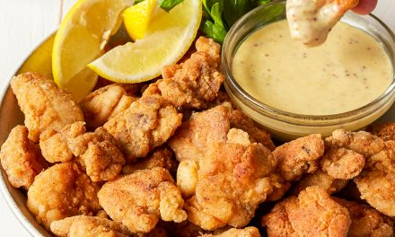 Paleo Popcorn Chicken with Honey Mustard