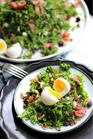 King Kale Salad with Bacon & 7-minute Egg