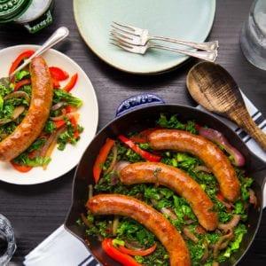 Paleo Kale, Sausage, Pepper, Skillet Primal Gourmet Recipe