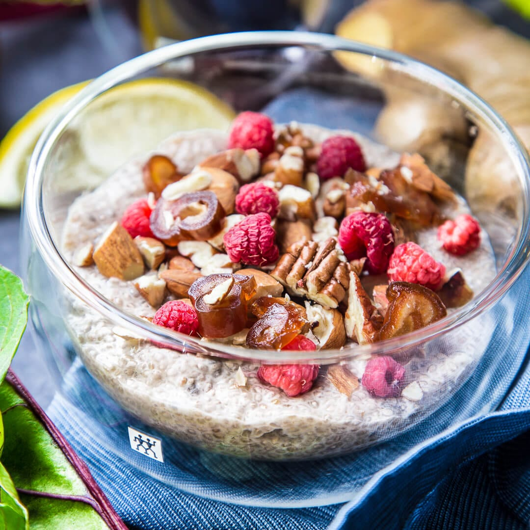 Almond-Date Chia Pudding