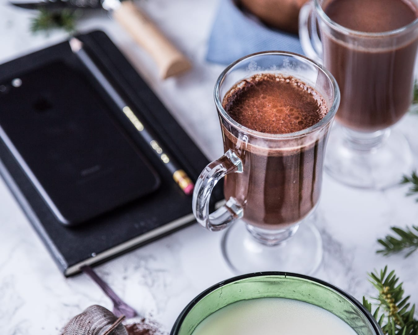 Paleo Vegan Hot Cacao Cocoa Chocolate Warm Drink Idea Holidays Recipe Easy 5 ingredients or less