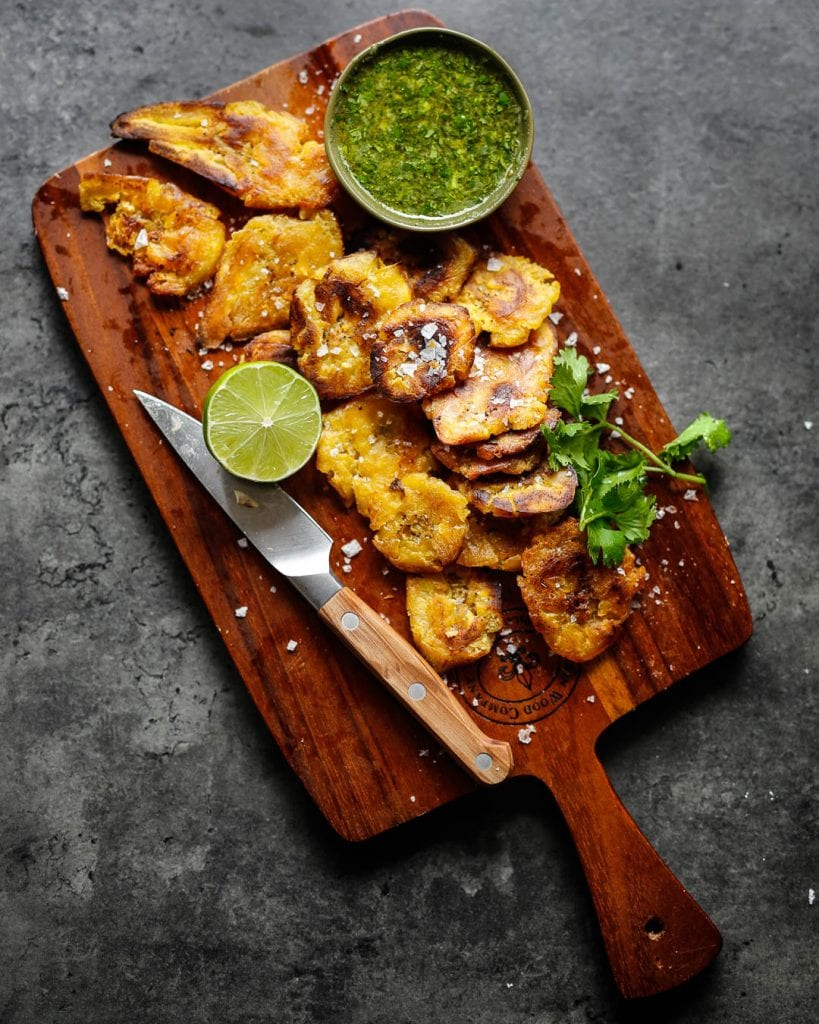 Tostones with Mojo Easy Whole 30 side dish primal gourmet paleo ideas