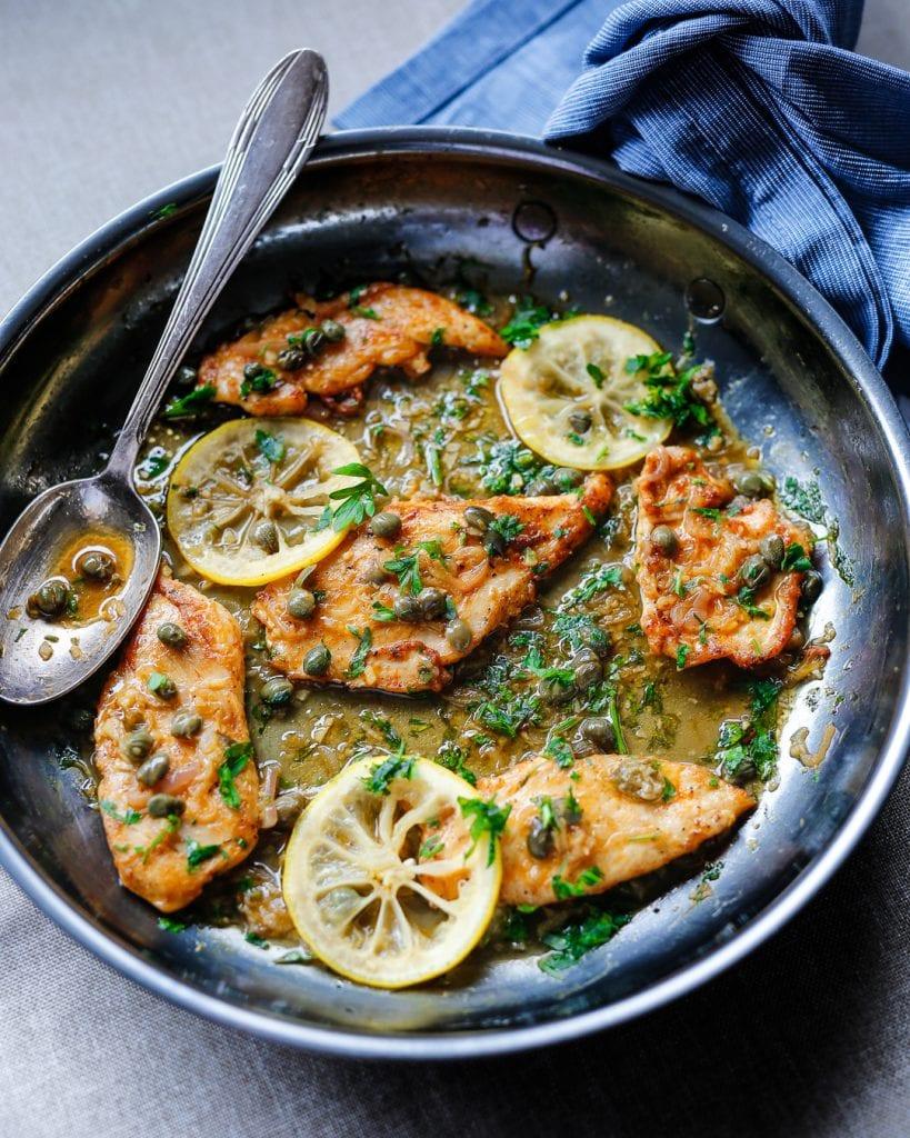 Chicken Piccata Paleo Whole30 Easy Recipe Dinner Idea