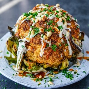 Whole Roasted Spiced Cauliflower Paleo Primal Gourmet Whole30 Recipes Easy