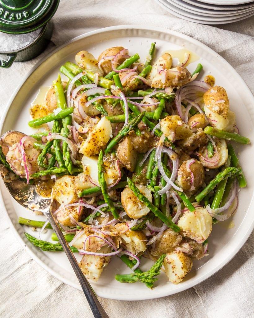 German Potato and Asparagus Salad Paleo Primal Gourmet Whole30 Healthy Easy Recipe Ideas