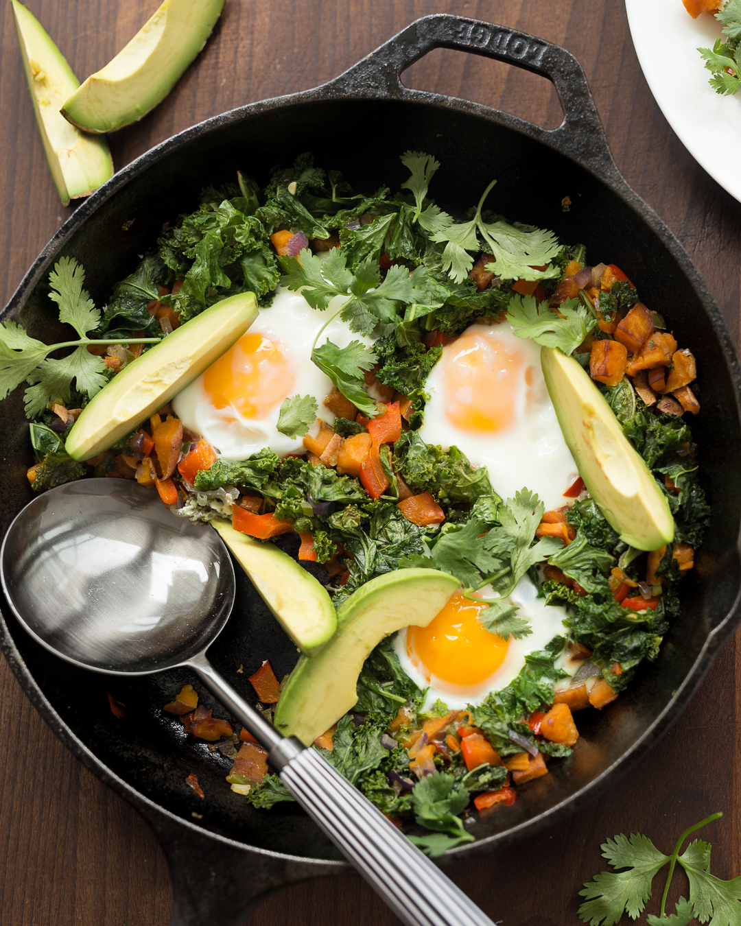 Whole30 Sweet Potato, Pepper and Kale Hash Primal Gourmet Paleo Easy Breakfast Recipe