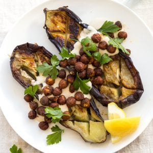 Pan Roasted Eggplant Hazelnuts Tahini Paleo Whole30 Primal Gourmet Easy Recipe