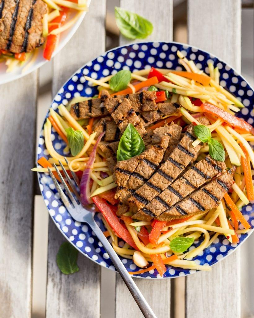 Grilled Thai Beef Green Mango Salad Whole30 Paleo Primal Gourmet Easy Recipe