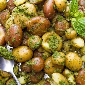Pesto Potato Salad Primal Gourmet Whole30 Easy