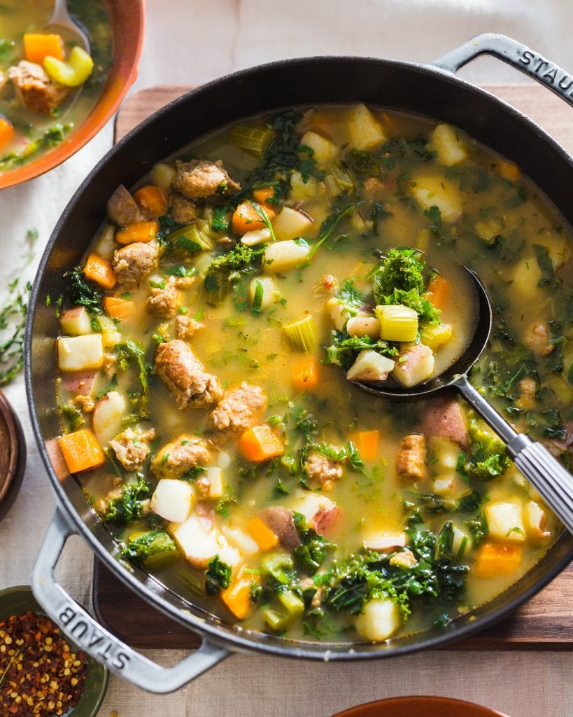 Sausage, Potato and Kale Soup Whole30 Paleo Primal Gourmet Easy Recipe