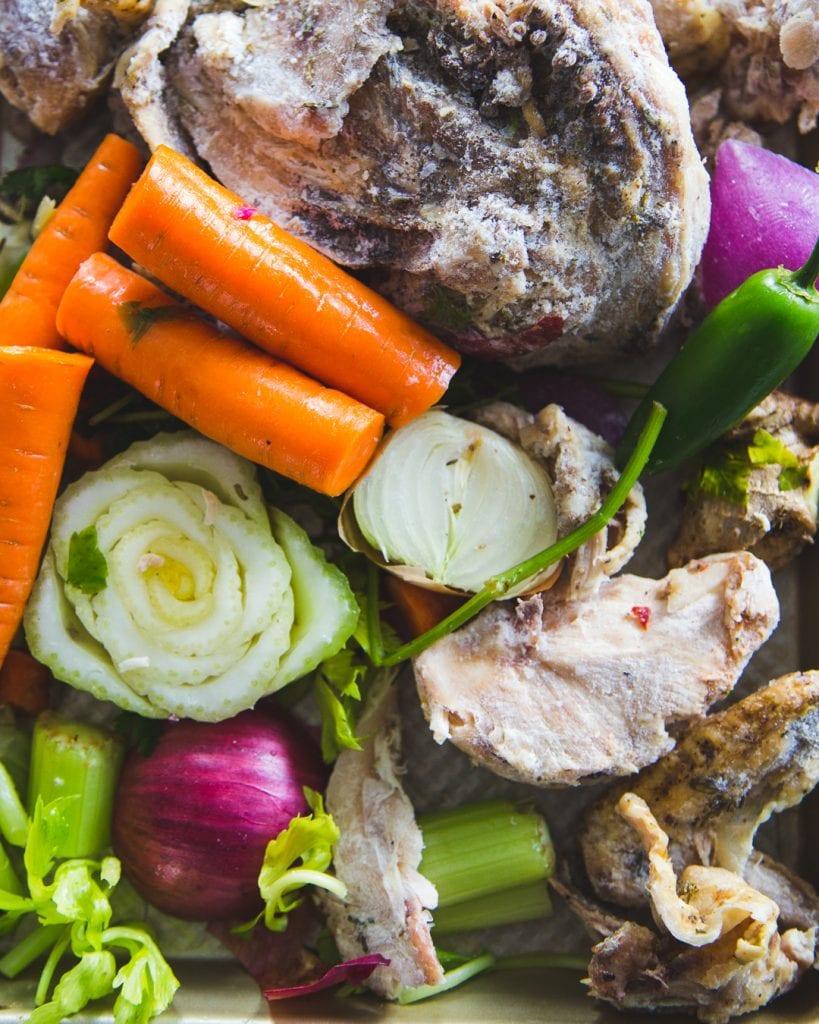 Homemade Chicken Bone Broth Whole30 Paleo Primal Gourmet Easy