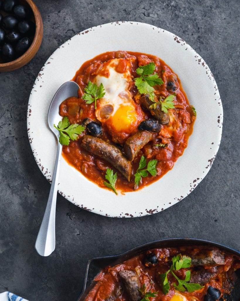 Shakshuka Merguez Whole30 Paleo Primal Gourmet Easy Best Breakfast Recipe