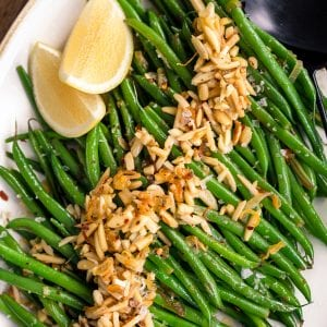 Green Bean Almondine Whole30 Paleo Primal Gourmet Easy Recipe Thanksgiving Side
