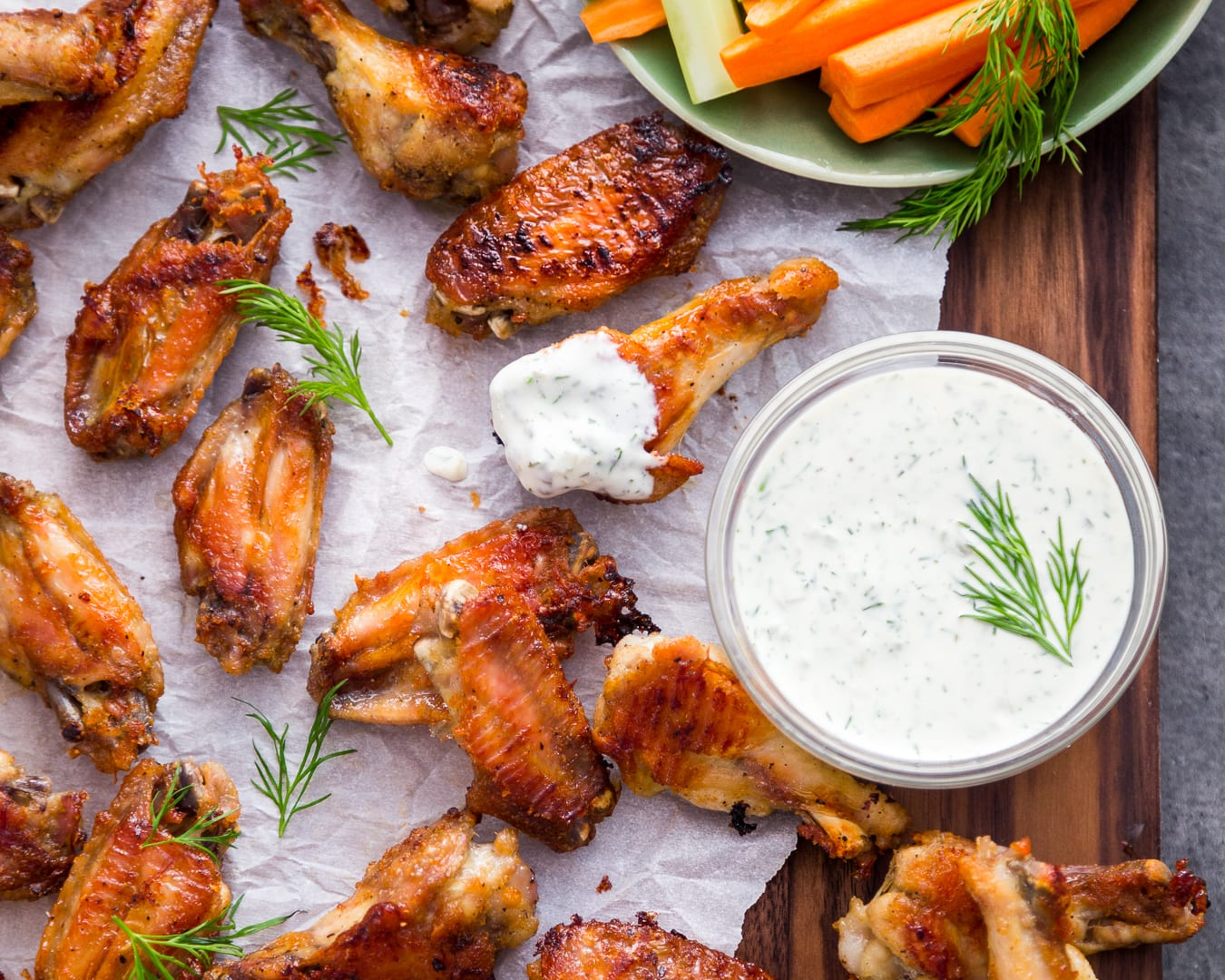 Dill Pickle Wings Dill Pickle Mayo Whole30 Paleo Primal Gourmet Easy