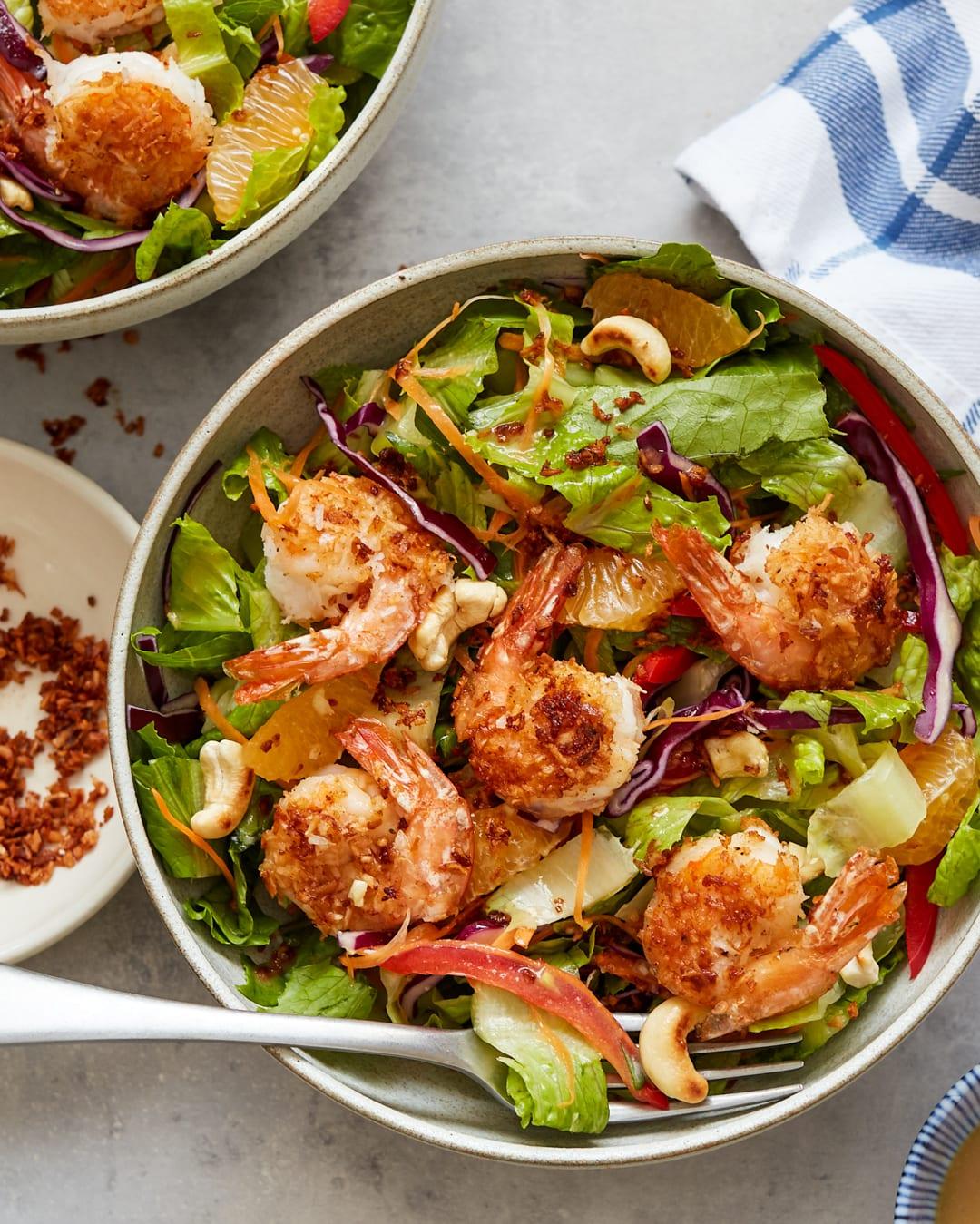 Coconut Shrimp Salad Sesame-Ginger Vinaigrette Paleo Primal Gourmet Easy Recipe