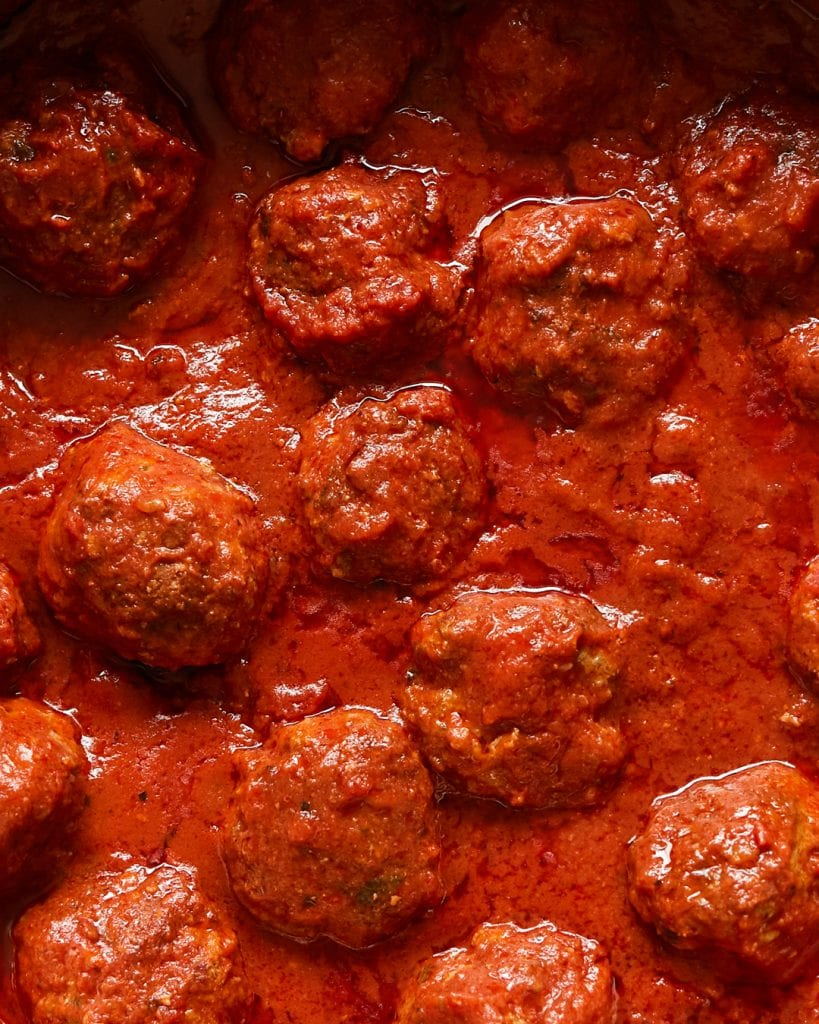 Meatballs in Red Sauce Whole30 Primal Gourmet Paleo Easy Recipe