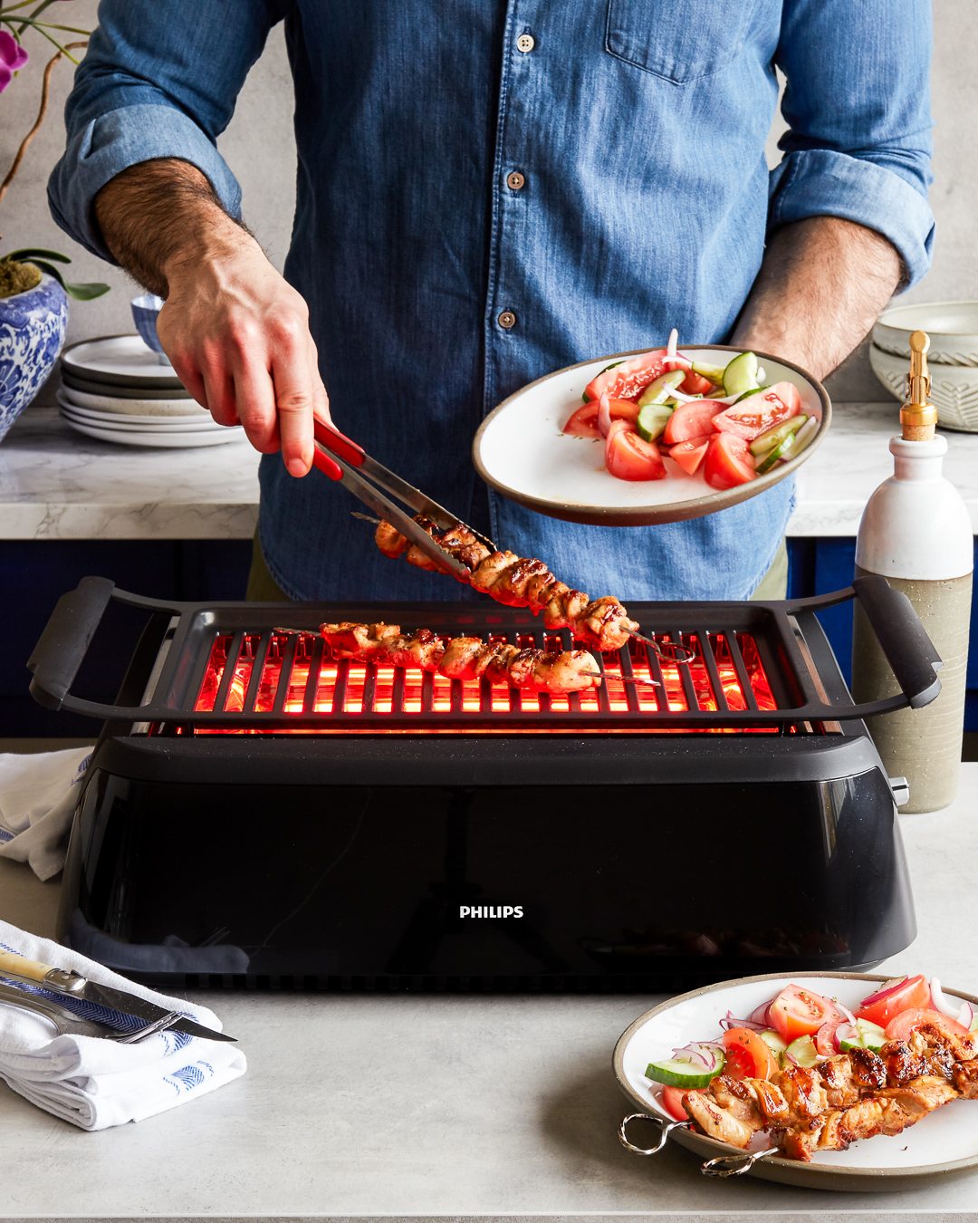 Philips Smoke Less Indoor Grill Blender Giveaway Primal Gourmet January Whole30