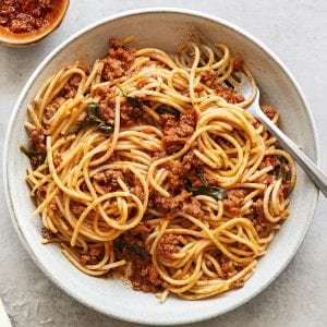 Bootleg Bolognese Gluten Free Pasta Primal Gourmet Easy Recipe