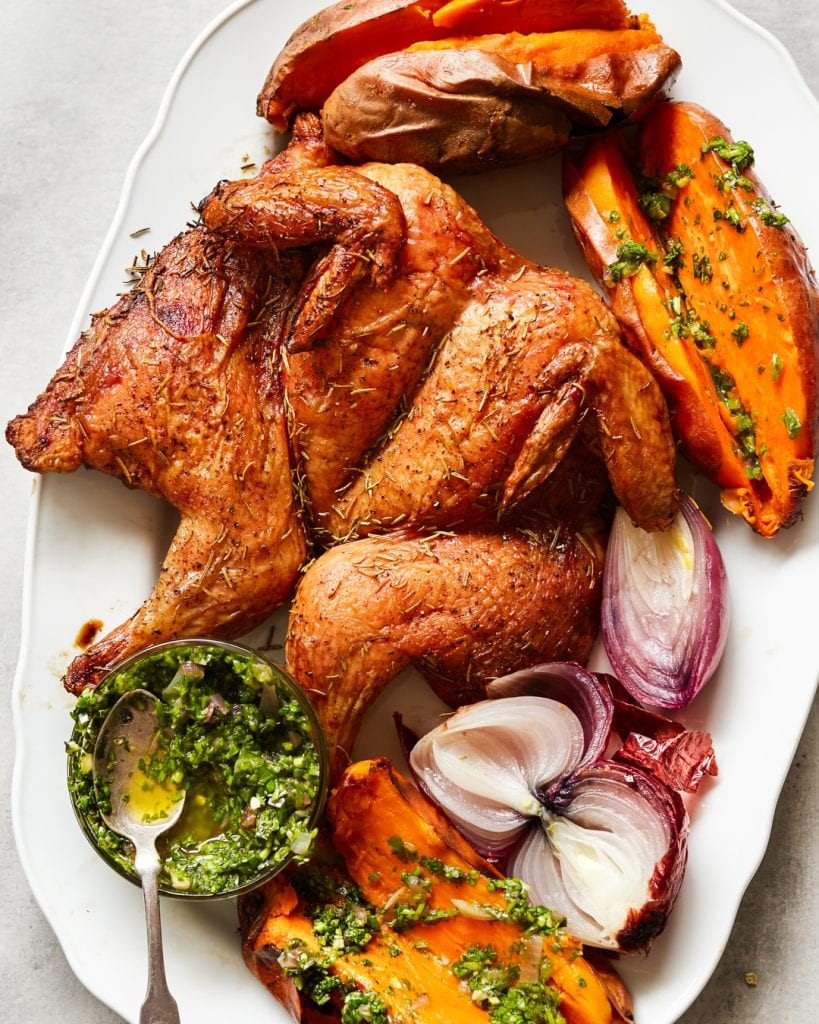 Traeger Roast Chicken Roasted Onion Salsa Verde Whole30 Paleo Primal Gourmet Easy Grilling Recipes