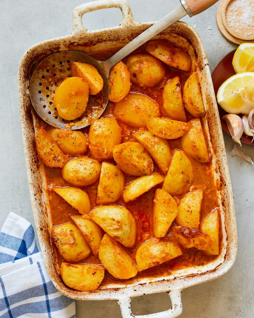 Whole30 Roasted Greek Potatoes Primal Gourmet Easy Side Dish Recipe