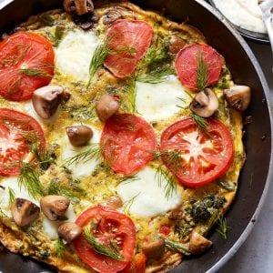 Veggie Frittata with Roasted Garlic Aioli Paleo Primal Gourmet Whole30 Easy No Waste Recipe
