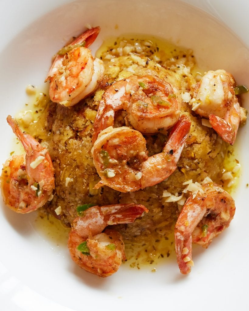 Mofongo with Mojo Shrimp Whole30 Paleo Primal Gourmet Puerto Rican Recipe