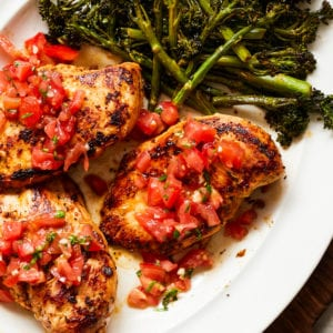 Bruschetta Chicken Whole30 Paleo Gluten-Free Grilled Recipe