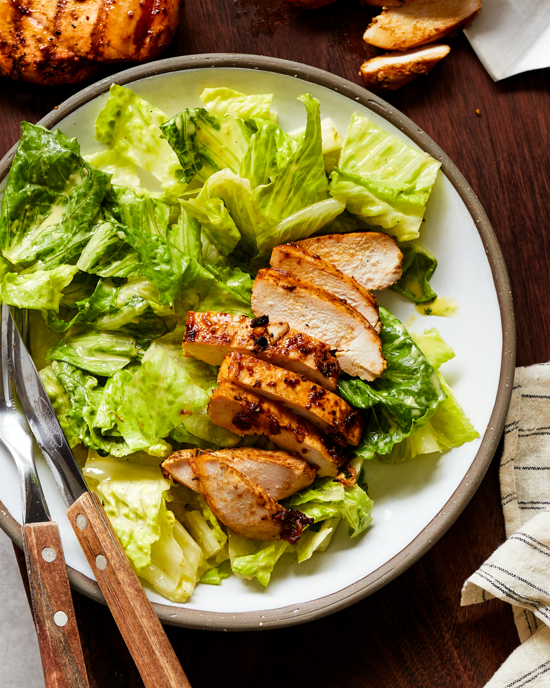 Whole30 Caesar Salad with Grilled Chicken Breast Easy Paleo Primal Gourmet Recipe