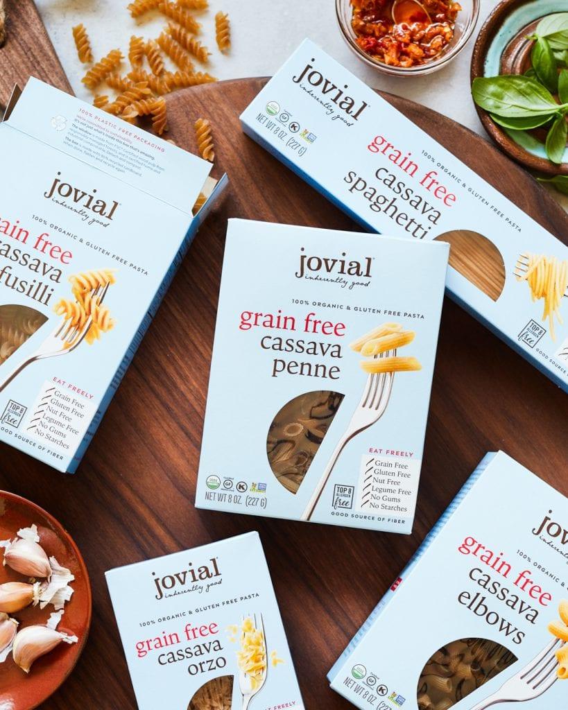 Gluten-Free Sausage and Veggie Penne Jovial Cassava Pasta