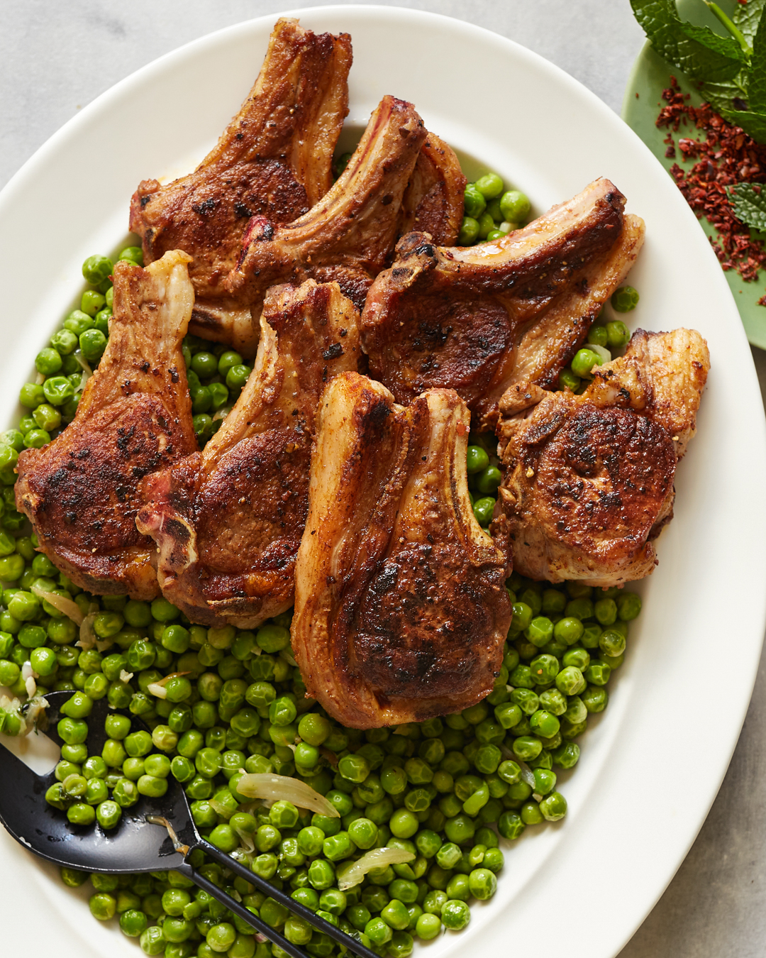 Aleppo Lamb Chops with Minty Peas - Whole30