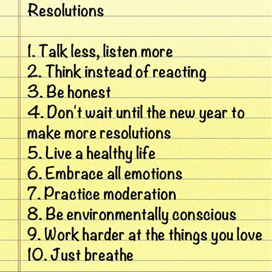 Ronny's Resolutions