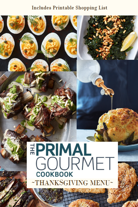 Primal Gourmet Thanksgiving Menu eBook