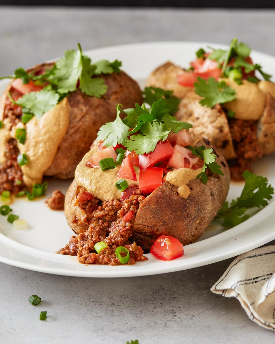 Chili Stuffed Baked Potatoes - Whole30