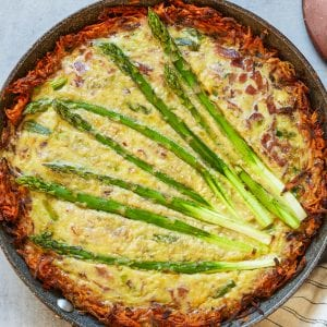 Bacon Leek and Asparagus Quiche Sweet Potato Crust Paleo Primal Gourmet Whole30 Mother's Day Brunch