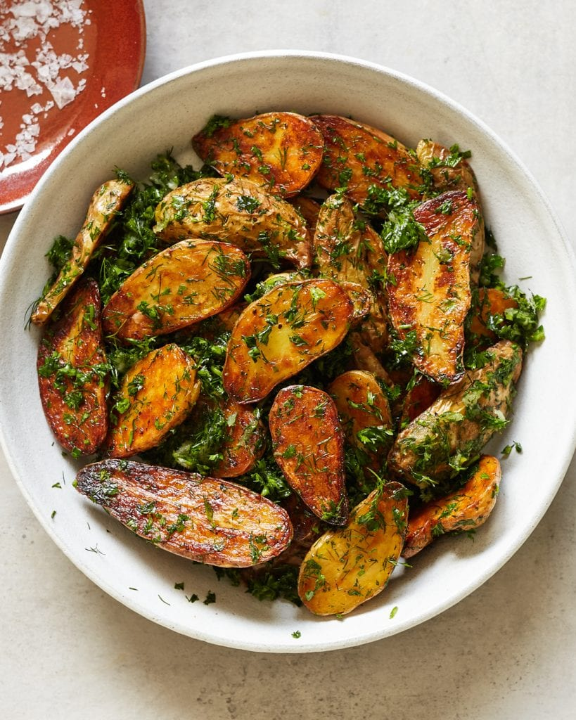 Perfectly Roasted Garlic and Herb Potatoes Whole30 BBQ Cookout Side Dish
