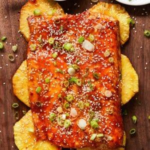 Grilled Sweet Thai Chile Pineapple Salmon Paleo Primal Gourmet Easy Traeger Recipe