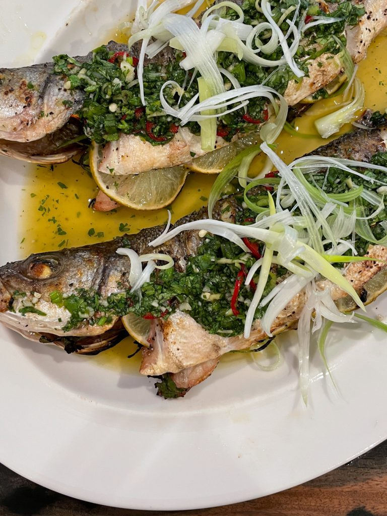 Whole Grilled Branzino with Chile Basil Ginger Sauce Paleo Primal Gourmet