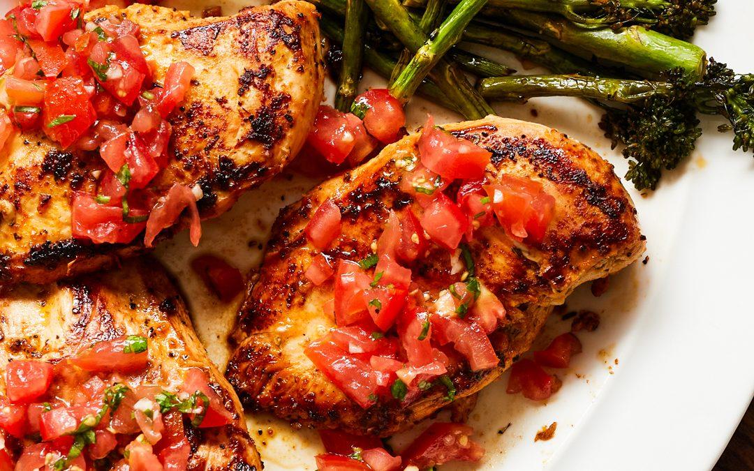 Bruschetta Chicken (Whole30, Paleo, Gluten-Free)