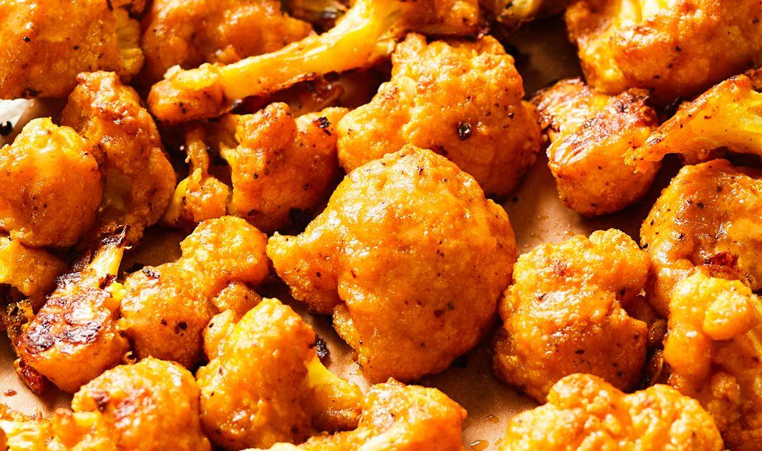Baked Buffalo Cauliflower Bites (Paleo, Gluten-Free)