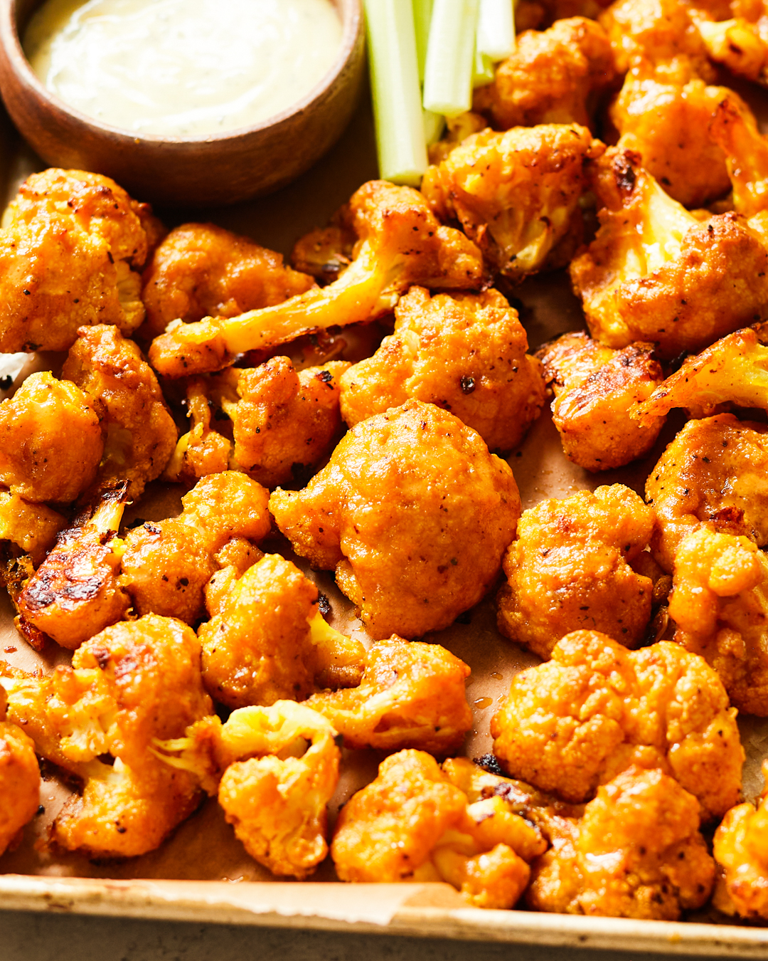 Baked Buffalo Cauliflower Bites Paleo Primal Gourmet Easy Recipe