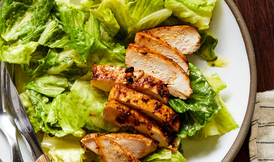 Whole30 Caesar Salad with Grilled Chicken (Paleo)
