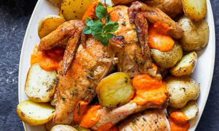 Whole30 Grilled Chicken Romesco – Paleo