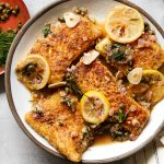 Fish Piccata Whole30 Paleo Primal Gourmet Easy Quarantine Recipe Pantry Staples