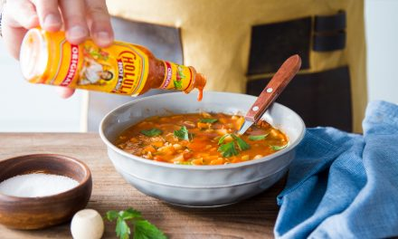 Kicked-Up Manhattan Clam Chowder with Cholula