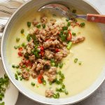 Whole30 Creamy Cauliflower Soup Sausage Crumble Paleo Primal Gourmet Easy Recipe