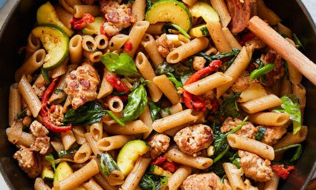 Sausage and Veggie Penne – Gluten-Free, Paleo