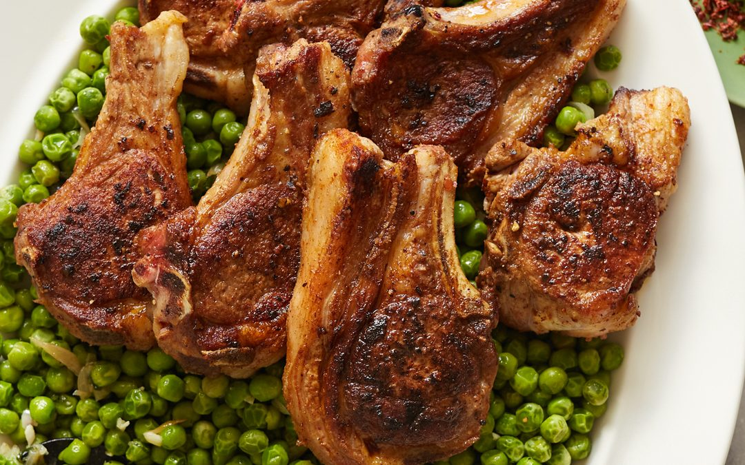 Aleppo Lamb Chops with Minty Peas – Whole30