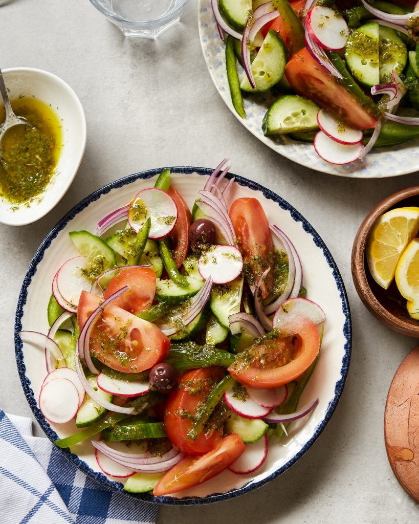 Lemon Dill Vinaigrette Whole30 Paleo Greek Salad Easy Dressing
