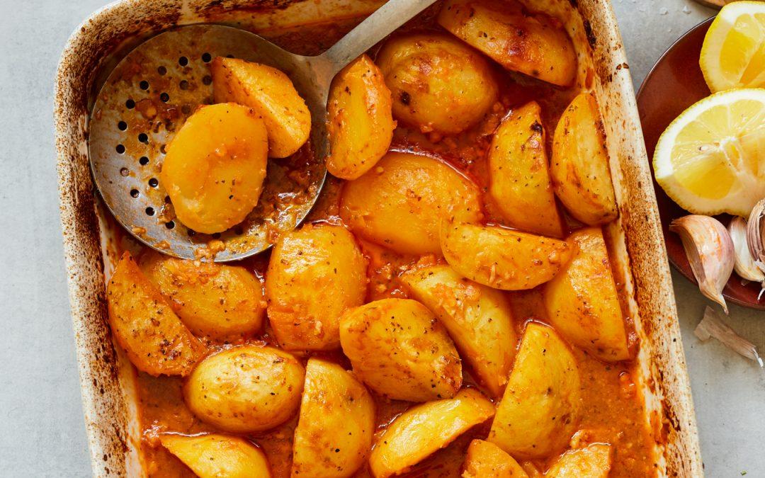 Whole30 Roasted Greek Potatoes